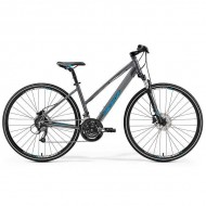 "Bicicleta MERIDA 2019 Crossway 40 Lady 28"" gri/albastru S (46L cm)"