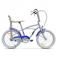 "Bicicleta PEGAS Strada Mini single-speed 20"" gri/albastru"