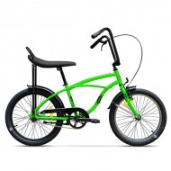 "Bicicleta PEGAS Strada Mini single-speed 20"" verde"
