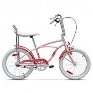 """Bicicleta PEGAS Strada Mini single-speed 20"""" roz"""