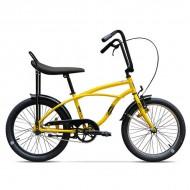"""Bicicleta PEGAS Strada Mini single-speed 20"""" galben"""