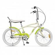 "Bicicleta PEGAS Strada Mini 3 viteze 20"" crem/galben neon"