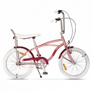 "Bicicleta PEGAS Strada Mini 3 viteze 20"" roz"