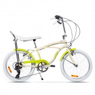 "Bicicleta PEGAS Strada Mini 7 viteze 20"" crem/galben"