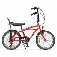 """Bicicleta PEGAS Strada Mini 7 viteze 20"""" roşu"""