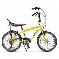 """Bicicleta PEGAS Strada Mini 7 viteze 20"""" galben"""