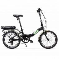 """Bicicleta electrică pliabilă PEGAS Camping Dinamic 7S 20"""" negru"""
