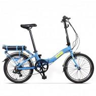 """Bicicleta electrică pliabilă PEGAS Camping Dinamic 7S 20"""" albastru deschis"""