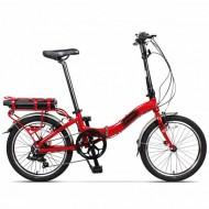 """Bicicleta electrică pliabilă PEGAS Camping Dinamic 7S 20"""" roşu"""