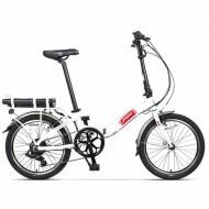 """Bicicleta electrică pliabilă PEGAS Camping Dinamic 7S 20"""" alb"""