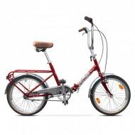 """Bicicleta pliabilă PEGAS Practic Retro 3S 20"""" 42 cm roşu"""