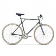 """Bicicleta PEGAS Clasic single-speed 28"""" gri 60 cm"""