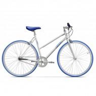 "Bicicleta PEGAS Clasic F Lady single-speed 28"" alb/albastru 45 cm"
