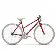 "Bicicleta PEGAS Clasic F Lady single-speed 28"" roşu mat 45 cm"