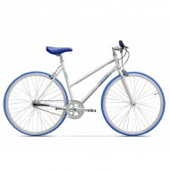 "Bicicleta PEGAS Clasic F Lady 28"" alb/albastru 45 cm"