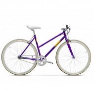 "Bicicleta PEGAS Clasic F Lady 28"" violet mat 45 cm"
