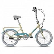 """Bicicleta pliabilă PEGAS Practic 3S 20"""" 42 cm crem/albastru"""