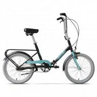 """Bicicleta pliabilă PEGAS Practic 3S 20"""" 42 cm negru/albastru"""