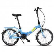 """Bicicleta pliabilă PEGAS Camping 3S 20"""" albastru"""