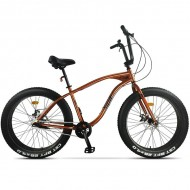 "Bicicleta Fat Bike PEGAS Cutezator Evolution 26"" portocaliu 43 cm"