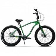 """Bicicleta Fat Bike PEGAS Cutezator EV 26"""" verde 43 cm"""