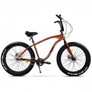 """Bicicleta Fat Bike PEGAS Cutezator EV 26"""" portocaliu 43 cm"""
