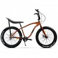 """Bicicleta Fat Bike PEGAS Cutezator EV Banana 26"""" portocliu 43 cm"""