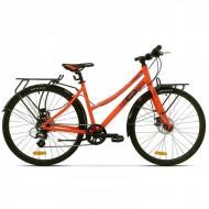 """Bicicleta PEGAS Hoinar Lady 28"""" portocaliu 46 cm"""