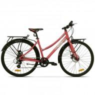 "Bicicleta PEGAS Hoinar Lady 28"" roz mat 46 cm"