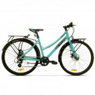 "Bicicleta PEGAS Hoinar Lady 28"" turcoaz 46 cm"