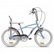 "Bicicleta PEGAS Strada 2 Mini 3 viteze 20"" albastru deschis"