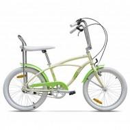 "Bicicleta PEGAS Strada 2 Mini 3 viteze 20"" crem/verde"