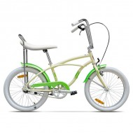 "Bicicleta PEGAS Strada 2 Mini single-speed 20"" crem/verde"