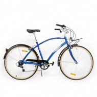 "Bicicleta PEGAS Popular aluminiu 28"" albastru 48 cm"
