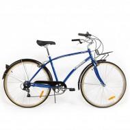 "Bicicleta PEGAS Popular 28"" albastru 48 cm"