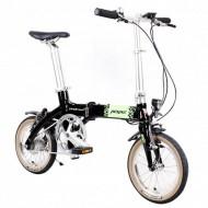 """Bicicleta electrică pliabilă PEGAS Practic Dinamic single-speed 14"""" negru"""