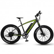 "Bicicleta Fat Bike PEGAS Suprem Dinamic E-bike 26"" negru/verde 48 cm"