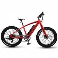 "Bicicleta Fat Bike PEGAS Suprem Dinamic E-bike 26"" roşu/negru 48 cm"