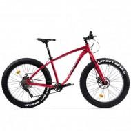"""Bicicleta Fat Bike PEGAS Suprem FX 26"""" roşu mat 43 cm"""