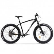 "Bicicleta Fat Bike PEGAS Suprem FX 26"" negru 48 cm"