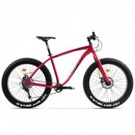 """Bicicleta Fat Bike PEGAS Suprem FX 26"""" roşu mat 48 cm"""