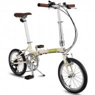 """Bicicleta pliabilă PEGAS Teoretic 7S 16"""" crem"""