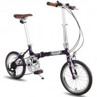 "Bicicleta pliabilă PEGAS Teoretic 7S 16"" mov mat"