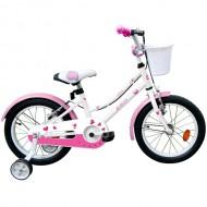 "Bicicleta ROBIKE Alice 16"" alb/roz 20 cm"
