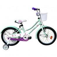 "Bicicleta ROBIKE Alice 16"" turquoise/mov/alb 20 cm"
