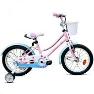 "Bicicleta ROBIKE Alice 16"" roz/albastru/alb 20 cm"