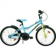"Bicicleta ROBIKE Ronny 20"" albastru/verde/negru 23 cm"