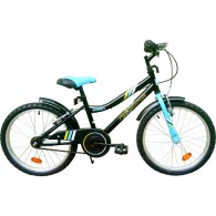 "Bicicleta ROBIKE Ronny 20"" negru/albastru 23 cm"
