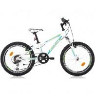 "Bicicleta ROBIKE Hat Trick 20"" alb/verde/albastru 24 cm"