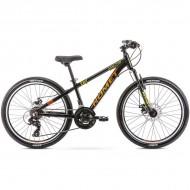 "Bicicleta ROMET Rambler Dirt 24"" negru/portocaliu S/12"""